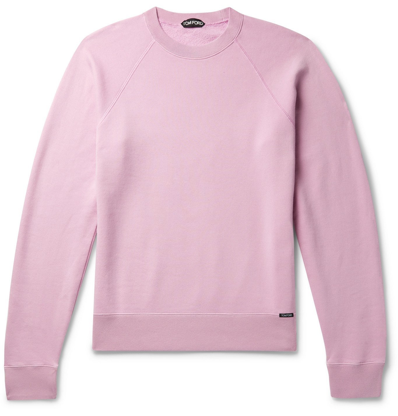 Photo: TOM FORD - Fleece-Back Cotton-Jersey Sweatshirt - Pink