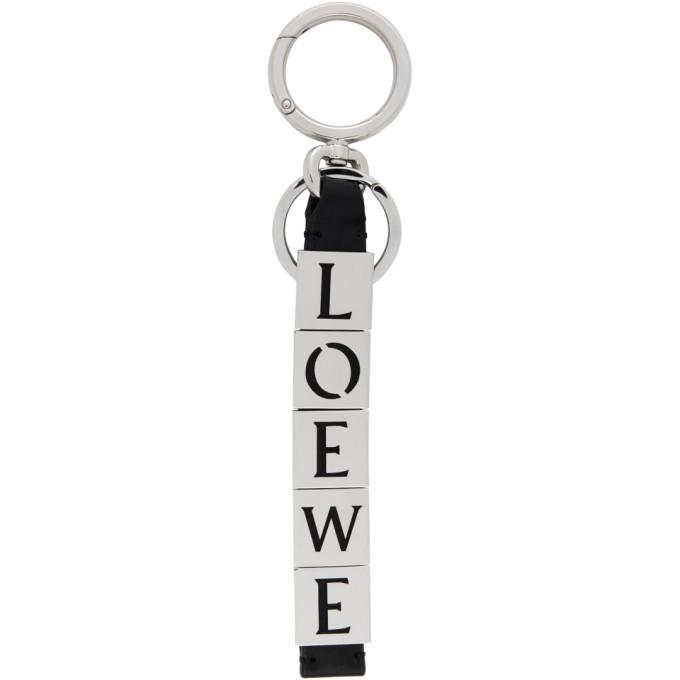 Photo: Loewe Black Logo Charm Keychain