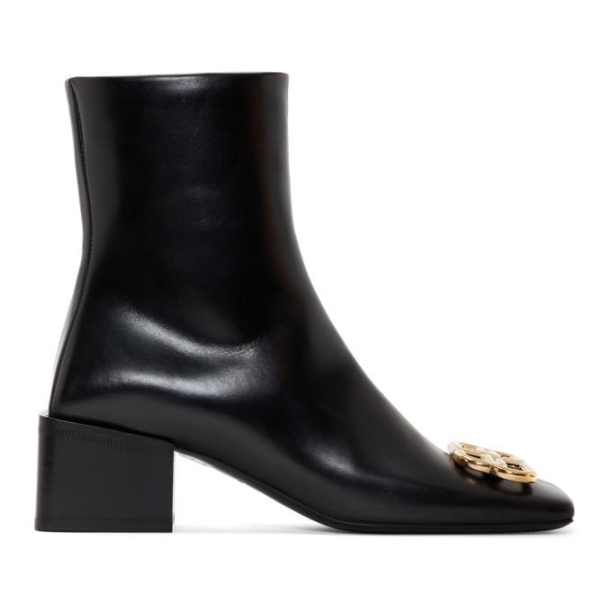Photo: Balenciaga Black Double Square BB Lux Boots