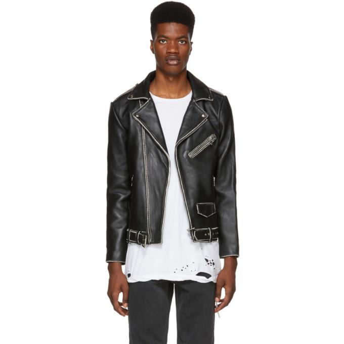 Photo: Stolen Girlfriends Club Black Distressed Leather Joey Jacket