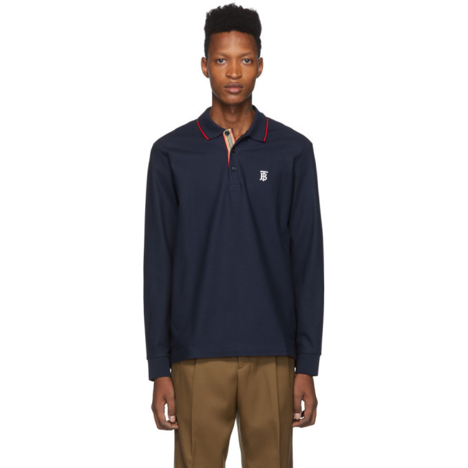 Photo: Burberry Navy Monogram Walton Polo