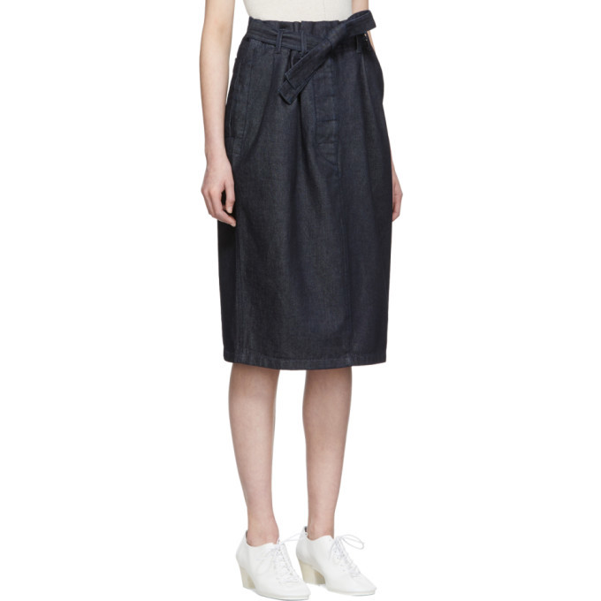 Lemaire SSENSE Exclusive Navy Martial Skirt
