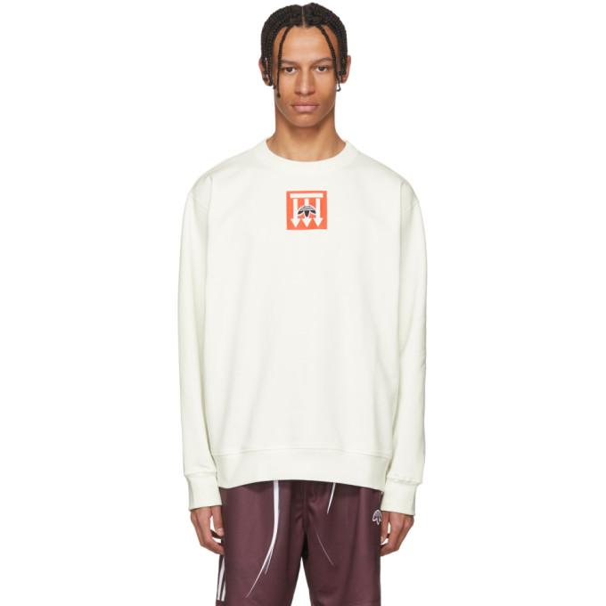 64ea4a59 adidas Originals by Alexander Wang White Graphic Crew Sweatshirt ...