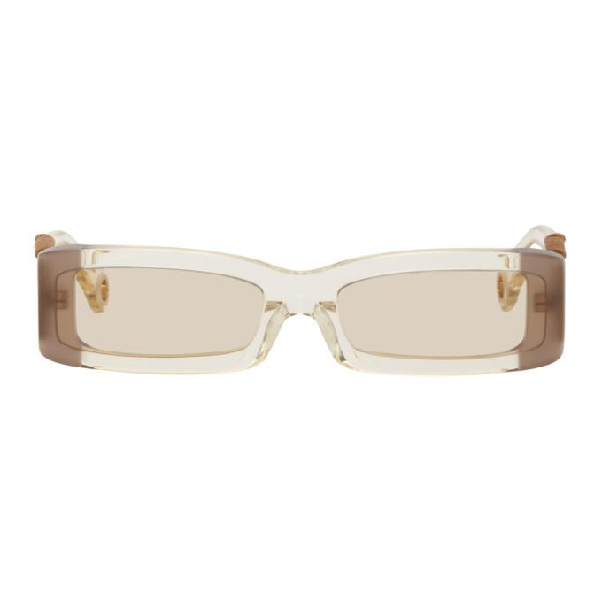 Photo: Jacquemus Yellow Les Lunettes 97 Sunglasses