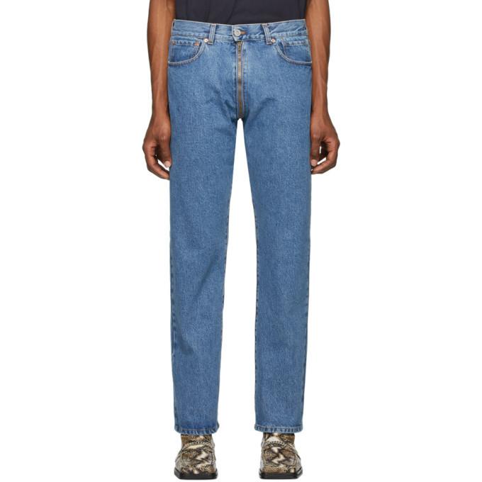 Photo: VETEMENTS Blue Crotch Zip Jeans
