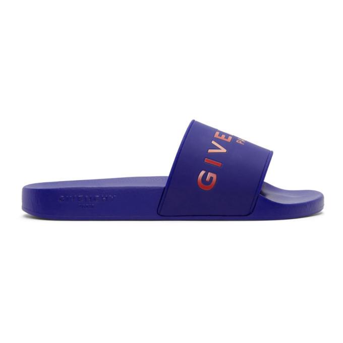 Photo: Givenchy Blue Logo Slides