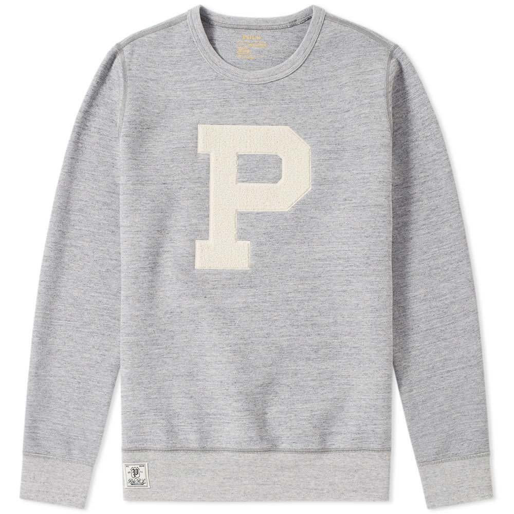 Photo: Polo Ralph Lauren Varsity P Logo Crew Sweat Grey