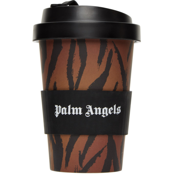 Photo: Palm Angels Brown Tiger Thermal Coffee Cup