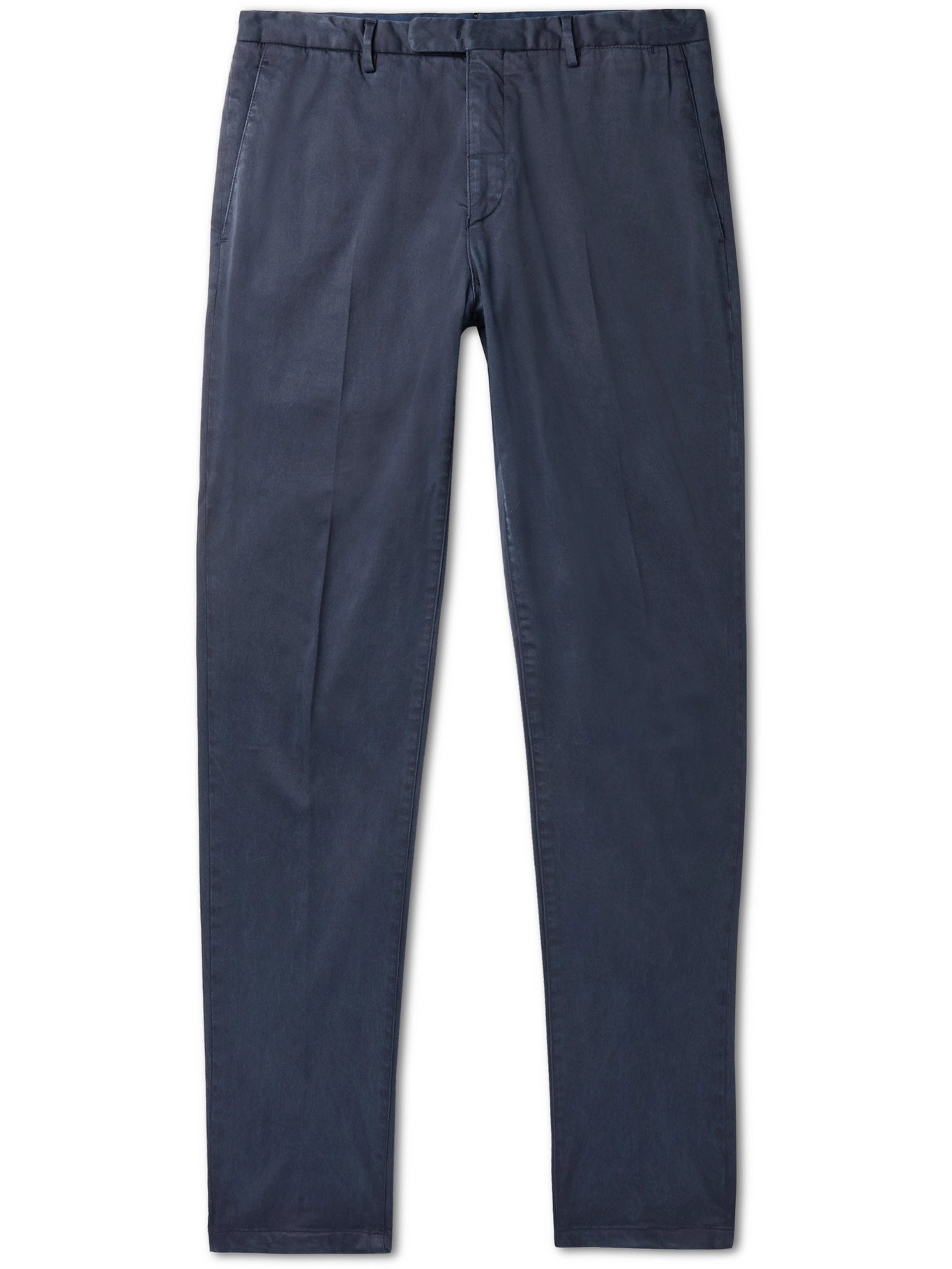 Photo: BOGLIOLI - TENCEL and Cotton-Blend Twill Trousers - Blue