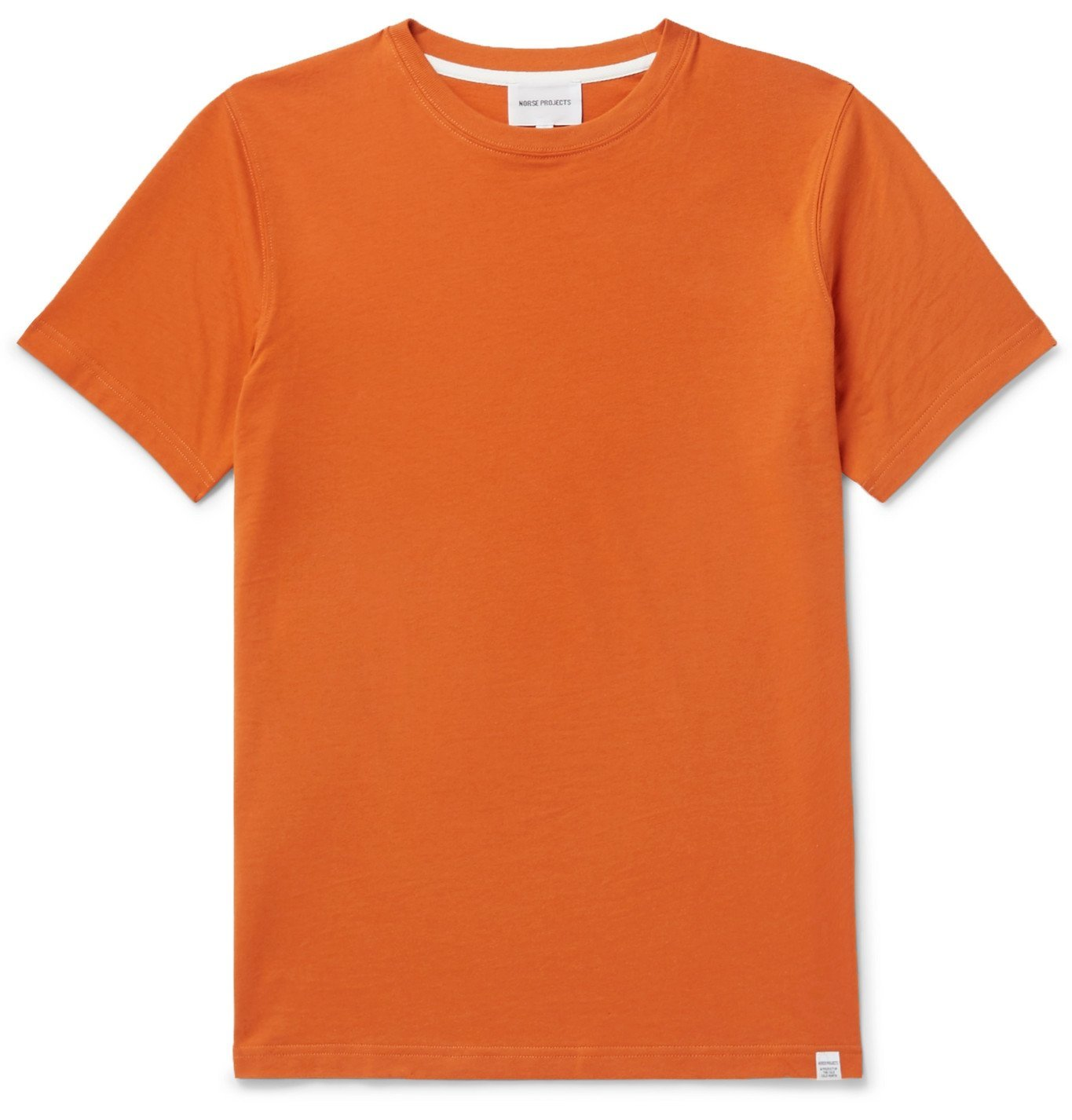 Photo: Norse Projects - Niels Cotton-Jersey T-Shirt - Orange