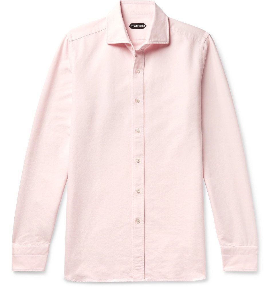 Photo: TOM FORD - Cotton Oxford Shirt - Pink