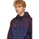 3.1 Phillip Lim Navy and Purple Colorblocked Hooded Jacket