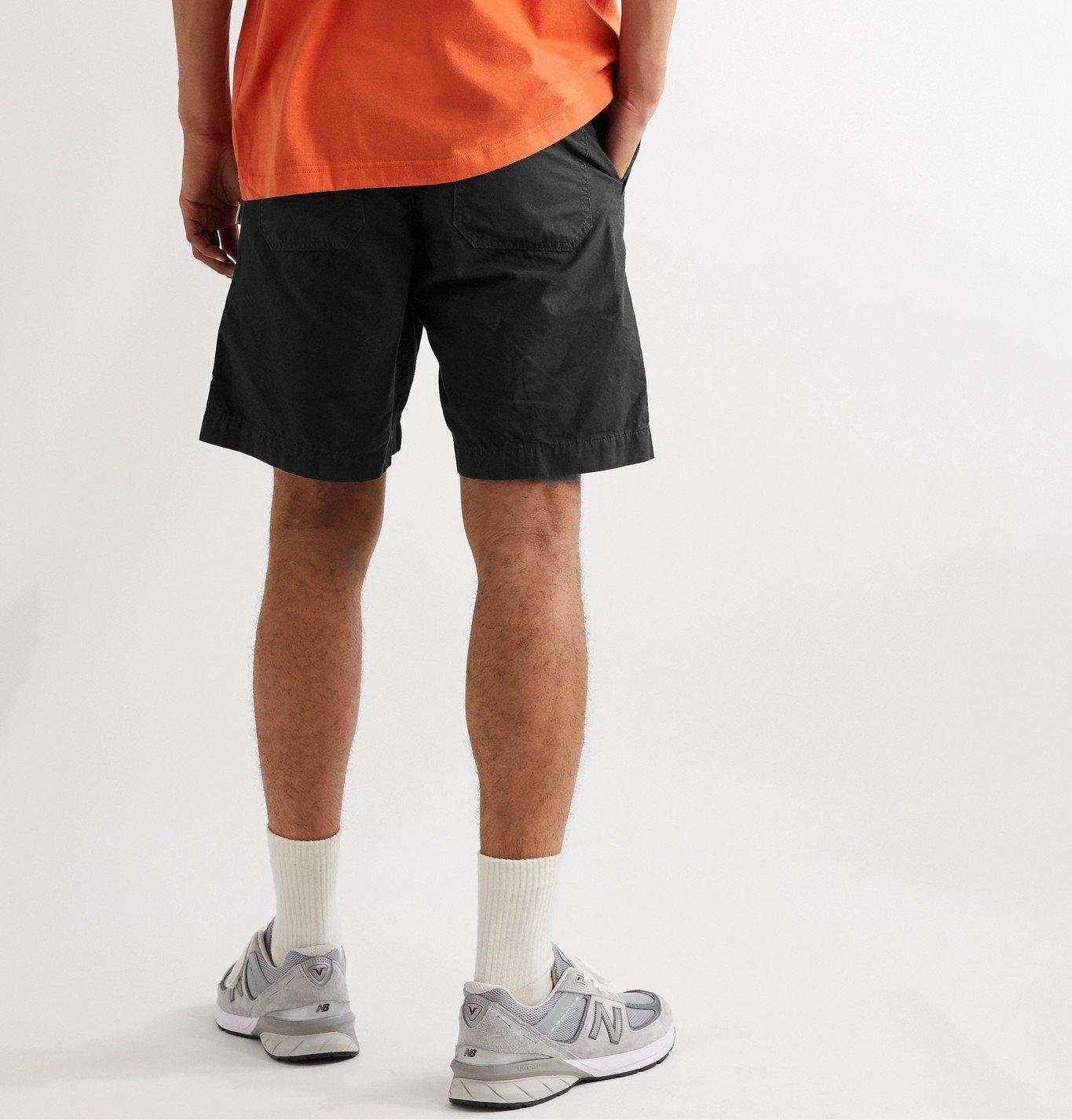 WTAPS - Buds Wide-Leg Cotton-Ripstop Shorts - Black