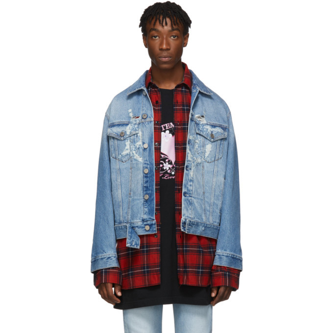 Photo: VETEMENTS Blue Denim Anarchy Jacket