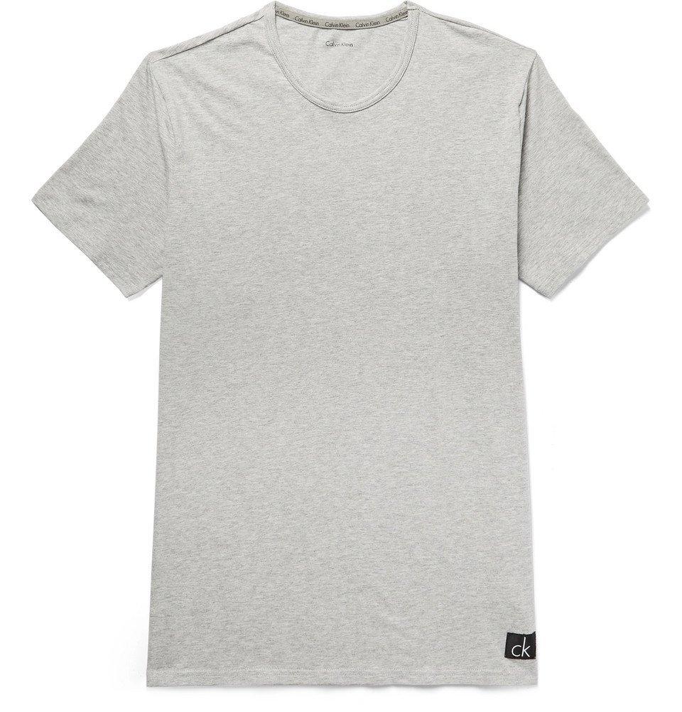 Photo: Calvin Klein Underwear - Mélange Stretch-Cotton Jersey T-Shirt - Gray