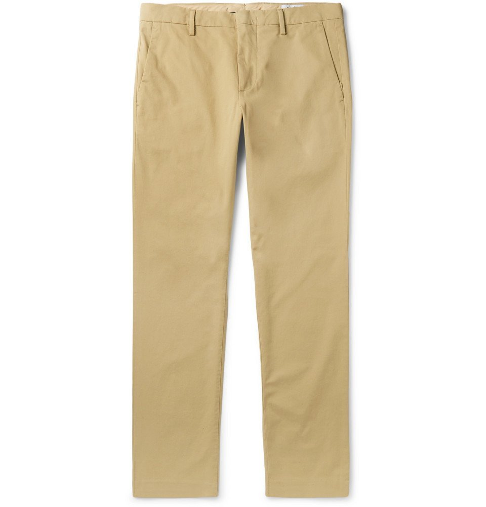 Photo: NN07 - Theo Tapered Cotton-Blend Twill Chinos - Sand