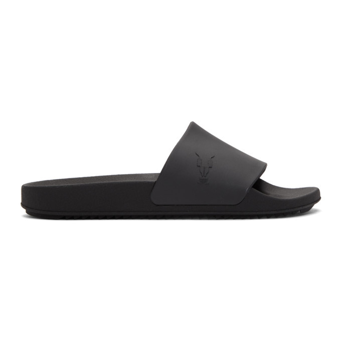 Photo: Rick Owens Drkshdw Black Rubber Slides