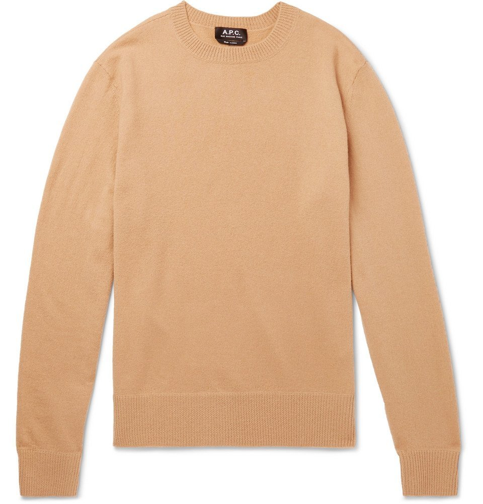 Photo: A.P.C. - Han Felted Merino Wool Sweater - Men - Camel