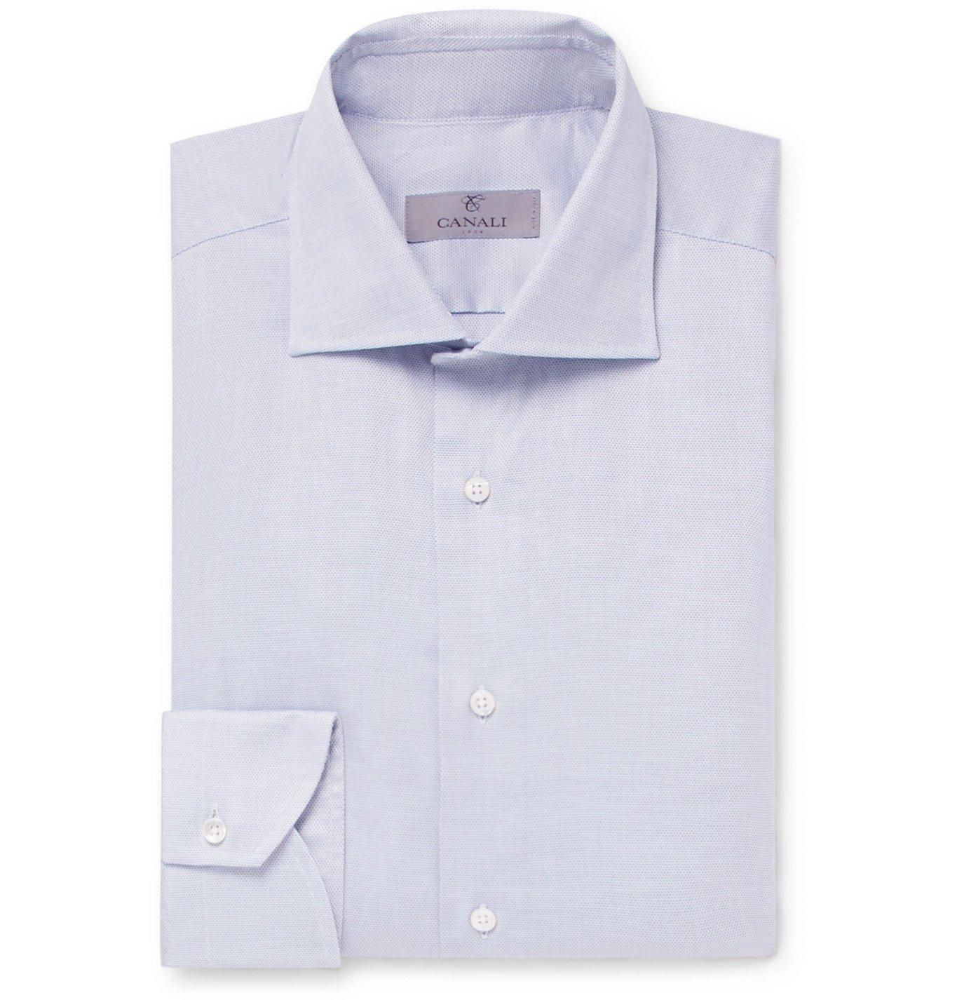 Photo: Canali - Textured-Cotton Shirt - Unknown