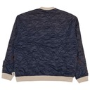 Kapital Fleecy Knit Bandana Bivouac Big Crewneck Sweatshirt Black