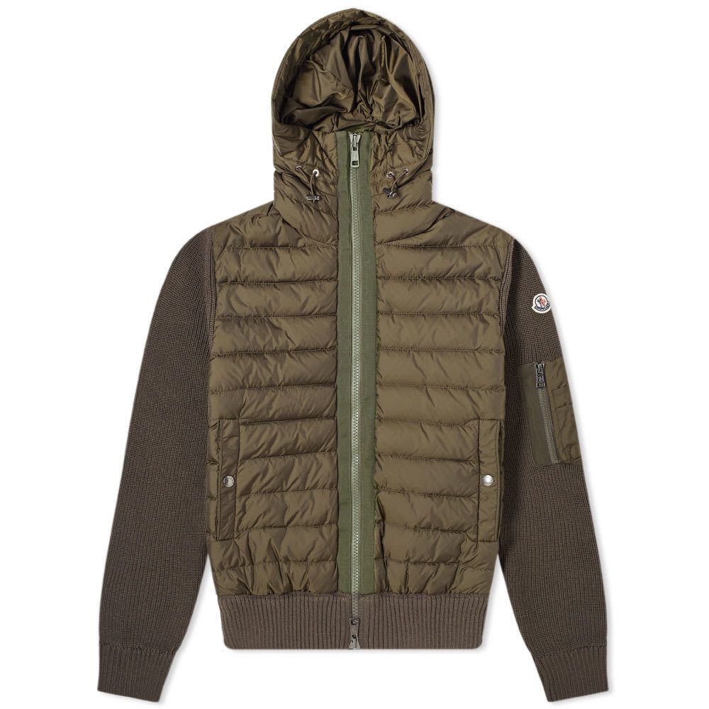 Photo: Moncler Knit Hooded Down Jacket