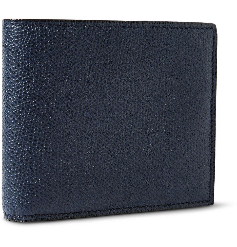 Photo: Valextra - Pebble-Grain Leather Billfold Wallet - Navy