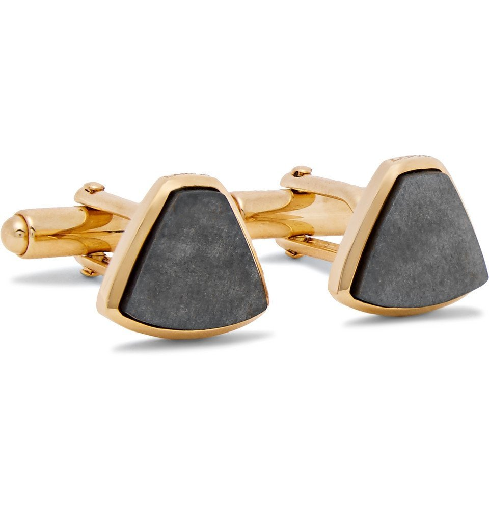 Photo: Lanvin - Gold-Plated Obsidian Cufflinks - Gold