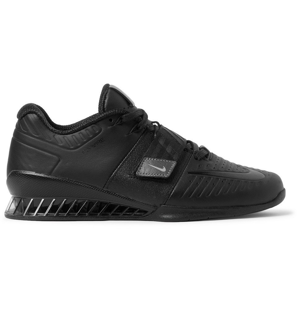 4b6a0139f58e Nike Training - Romaleos 3 XD Faux Leather Sneakers - Black Nike ...