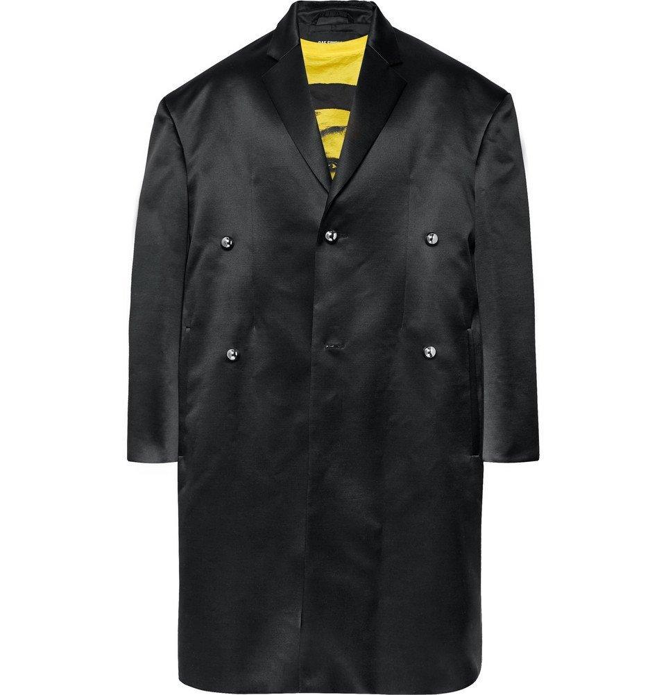 Raf Simons - Oversized Wool and Silk-Blend Duchess Satin Coat - Black