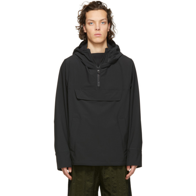 Photo: Woolrich John Rich and Bros Black Anorak Tech Jacket
