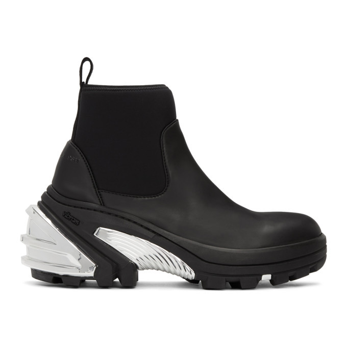 Photo: 1017 ALYX 9SM Black and Silver Rubber Boots