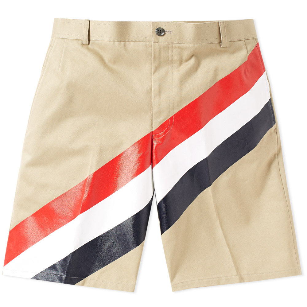 Photo: Thom Browne Diagonal Stripe Chino Short Green