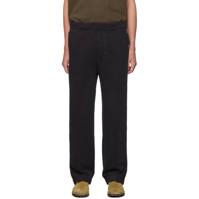 Photo: Lemaire Black Jersey Chino Lounge Pants