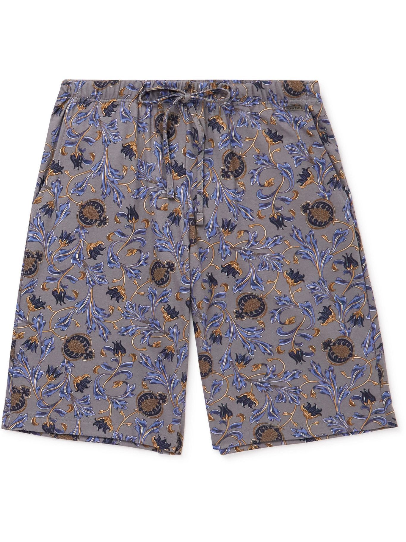 Photo: Hanro - Night & Day Printed Cotton Pyjama Shorts - Blue