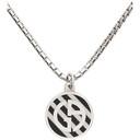 Giorgio Armani Silver Logo Pendant Necklace