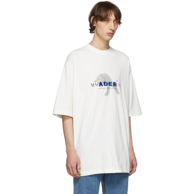 Maison Kitsune White ADER Error Edition Jump Fox T-Shirt