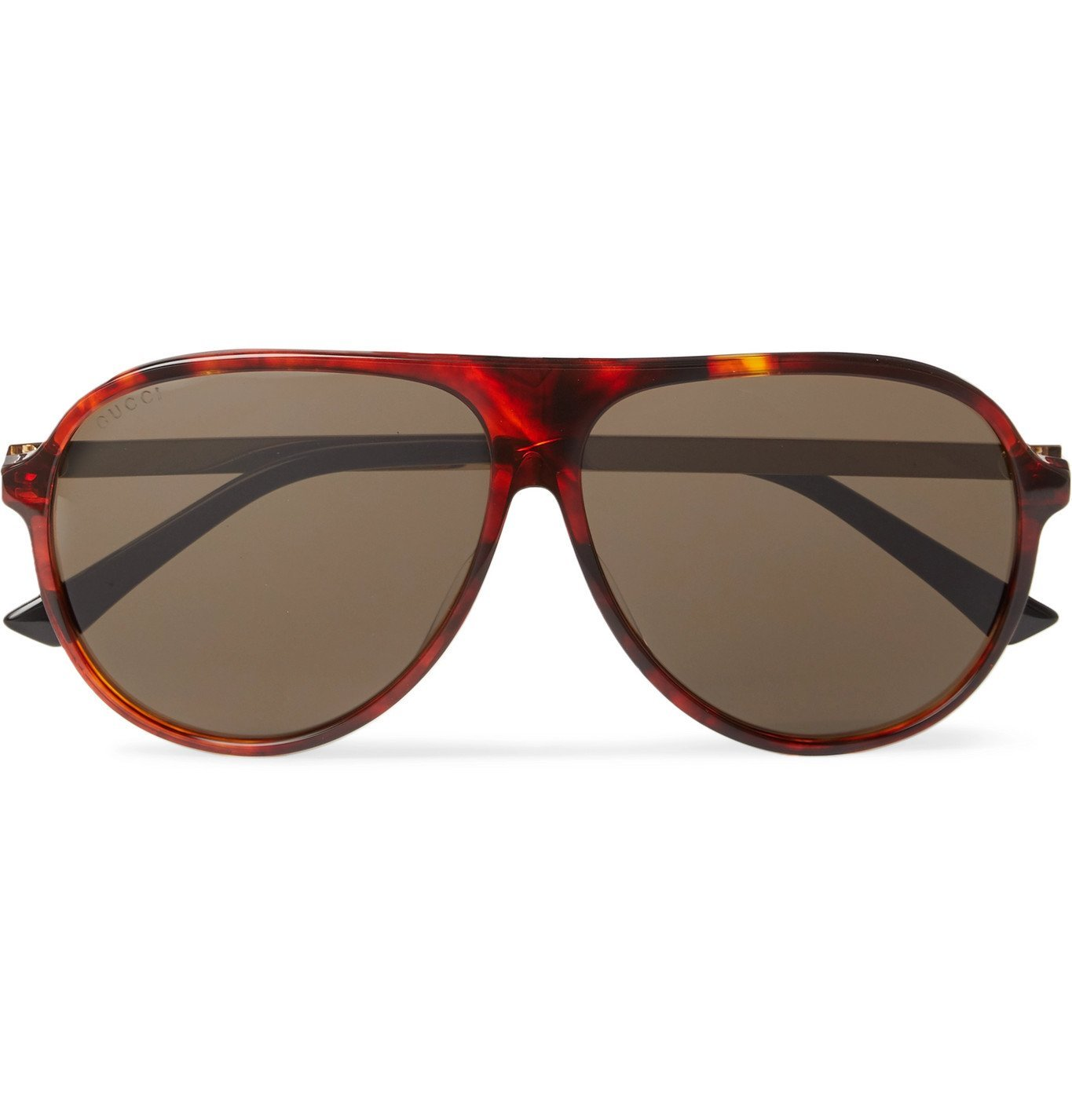 Photo: Gucci - Aviator-Style Tortoiseshell Acetate and Gold-Tone Sunglasses - Brown