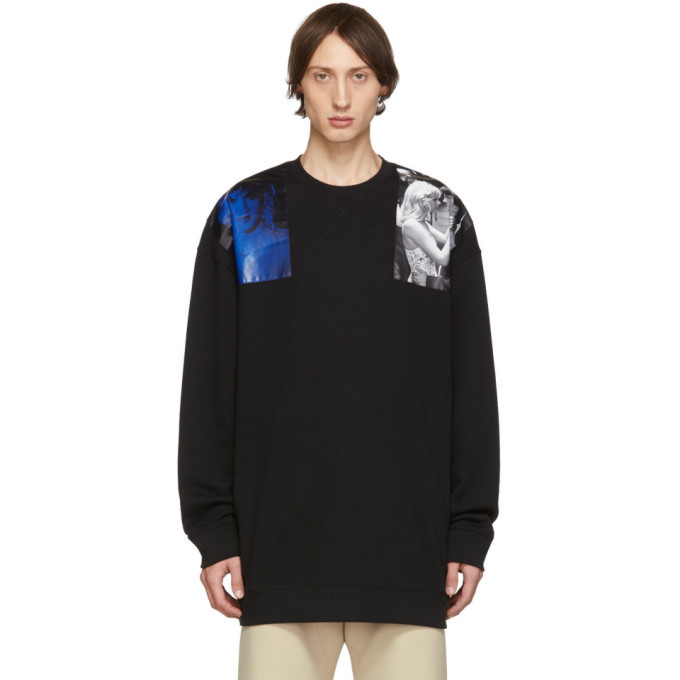 Photo: Raf Simons Black Oversized Patches Sweatshirt