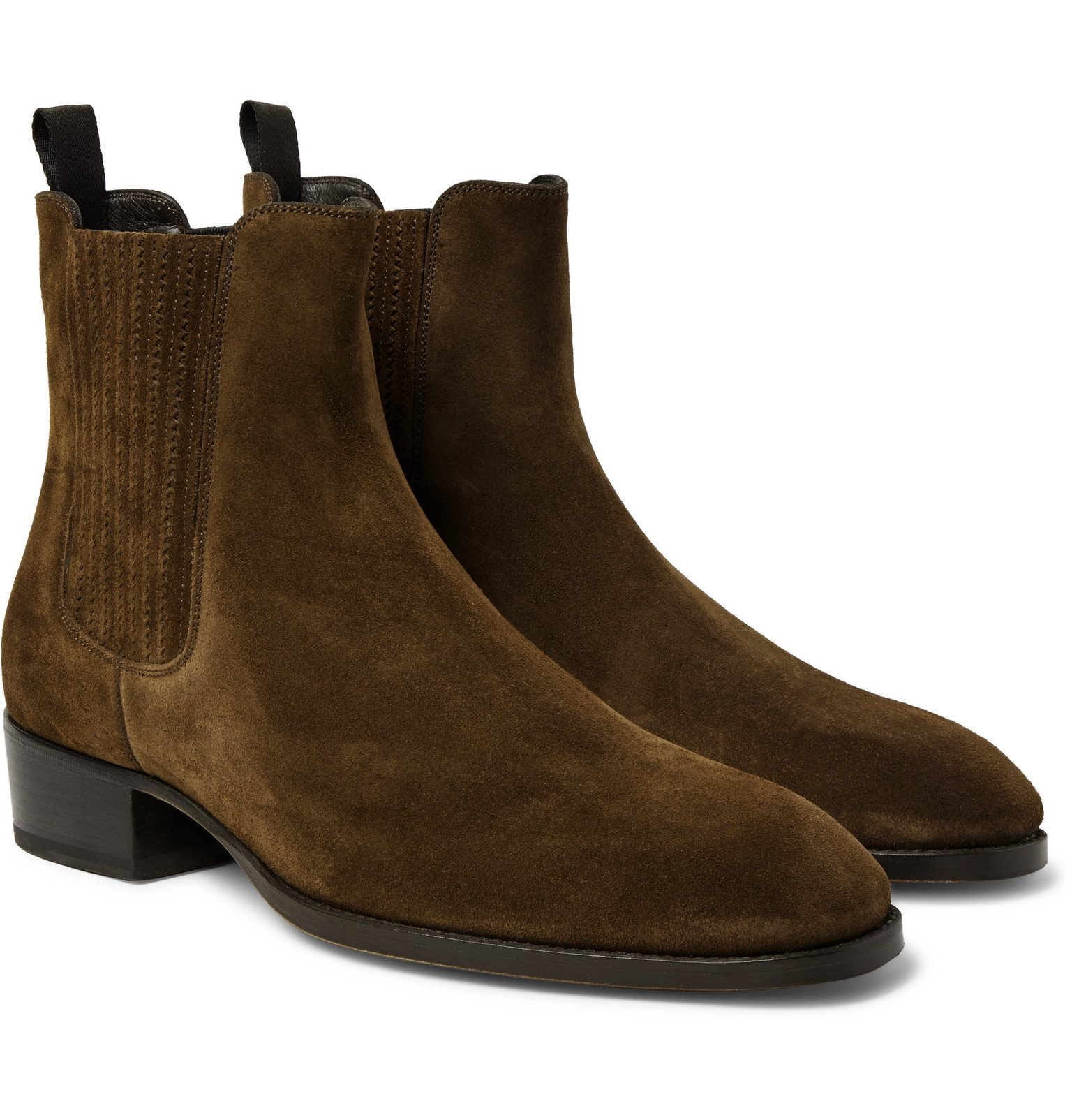 Photo: TOM FORD - Suede Chelsea Boots - Brown