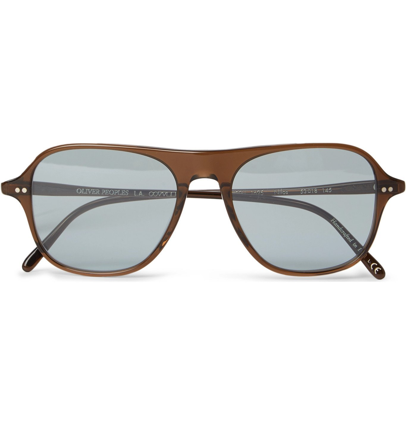 Photo: OLIVER PEOPLES - Nilos D-Frame Acetate Sunglasses - Brown