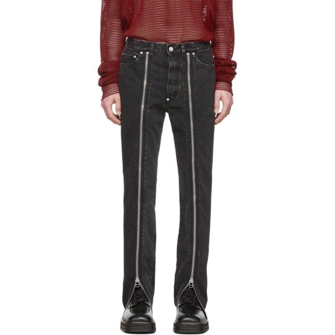 Photo: Johnlawrencesullivan Grey Zip Front Jeans