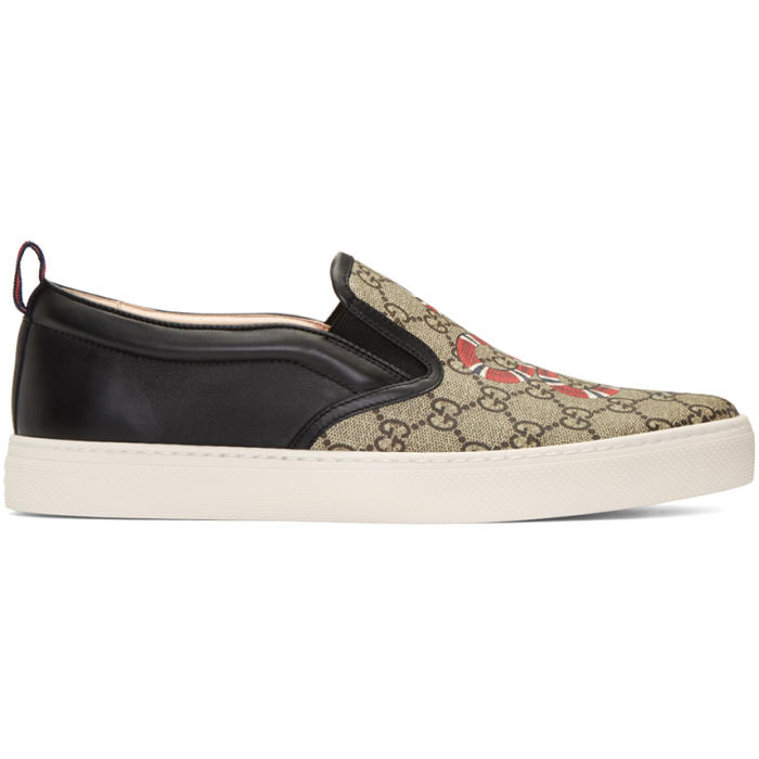 Snake Dublin Slip-On Sneakers Gucci