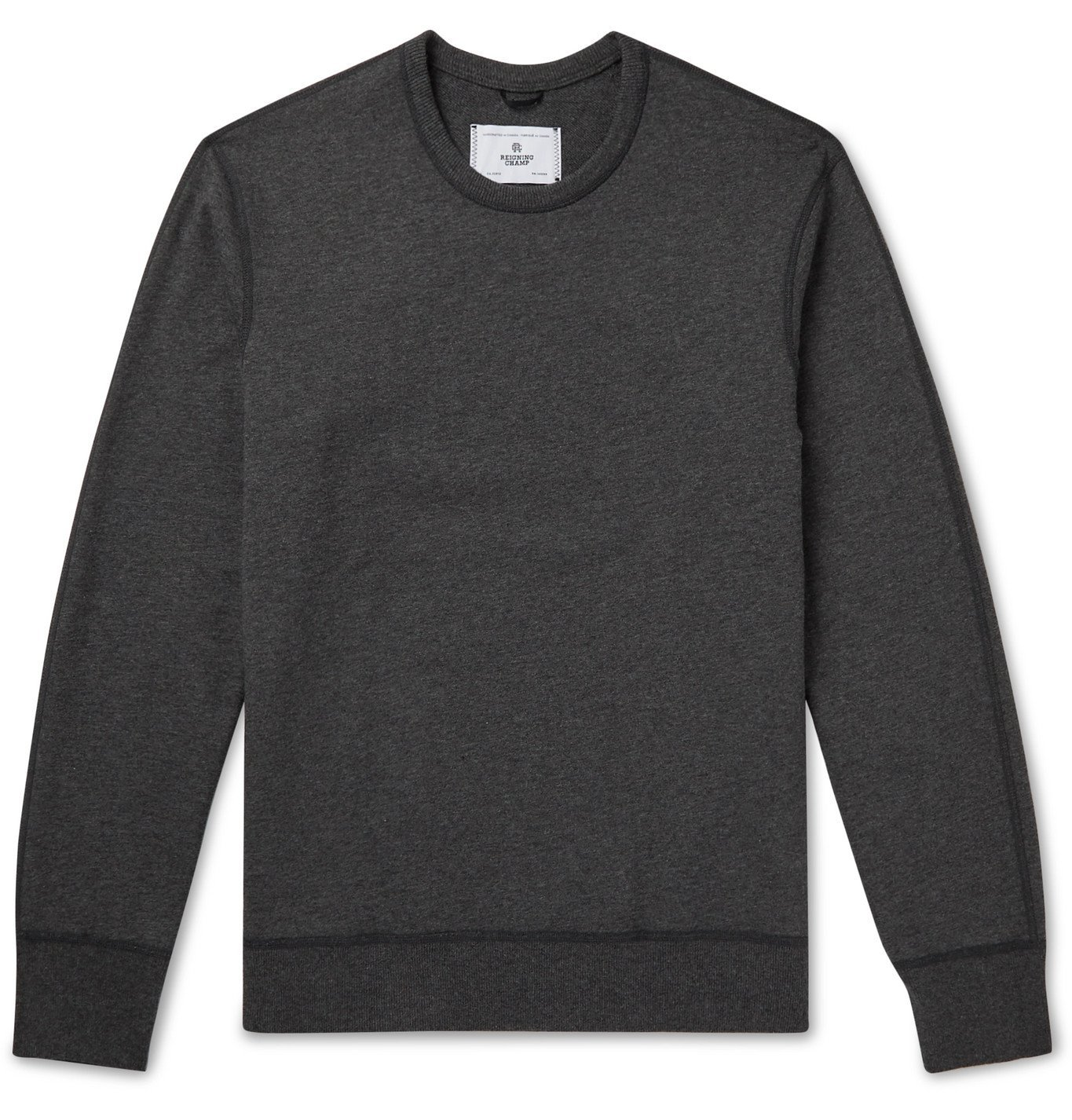 Photo: Reigning Champ - Loopback Cotton-Jersey Sweatshirt - Gray