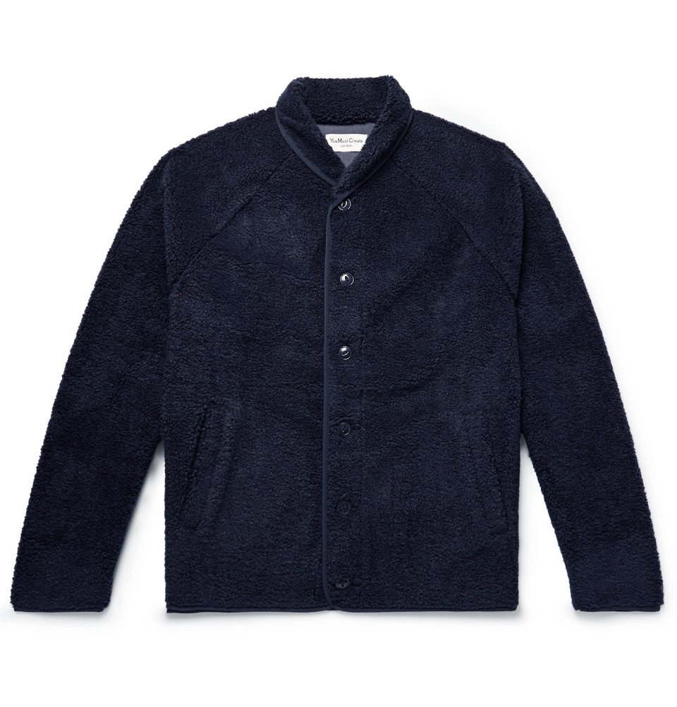 Photo: YMC - Shawl-Collar Fleece Jacket - Navy