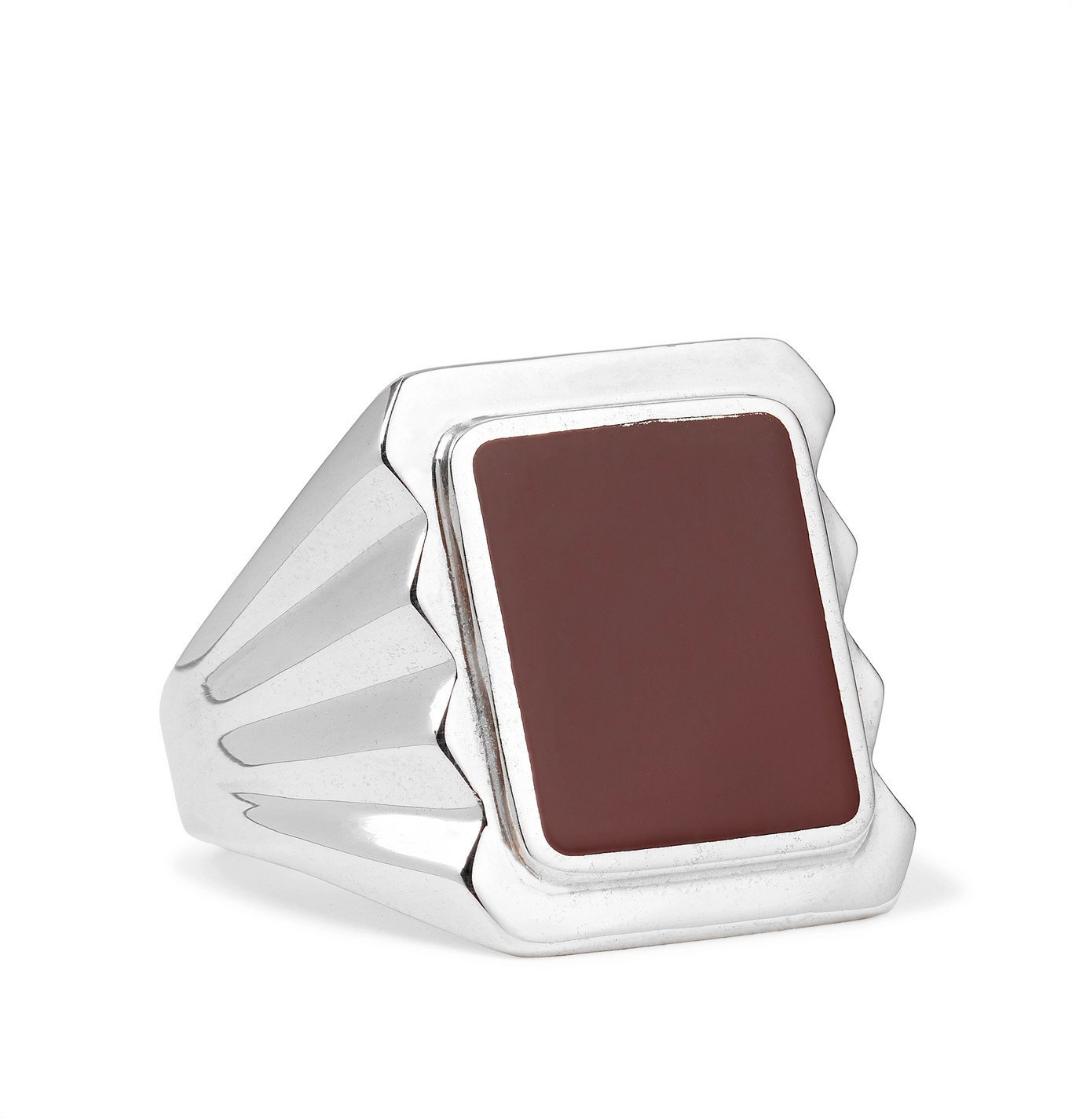 Photo: Bottega Veneta - Sterling Silver and Stone Signet Ring - Silver