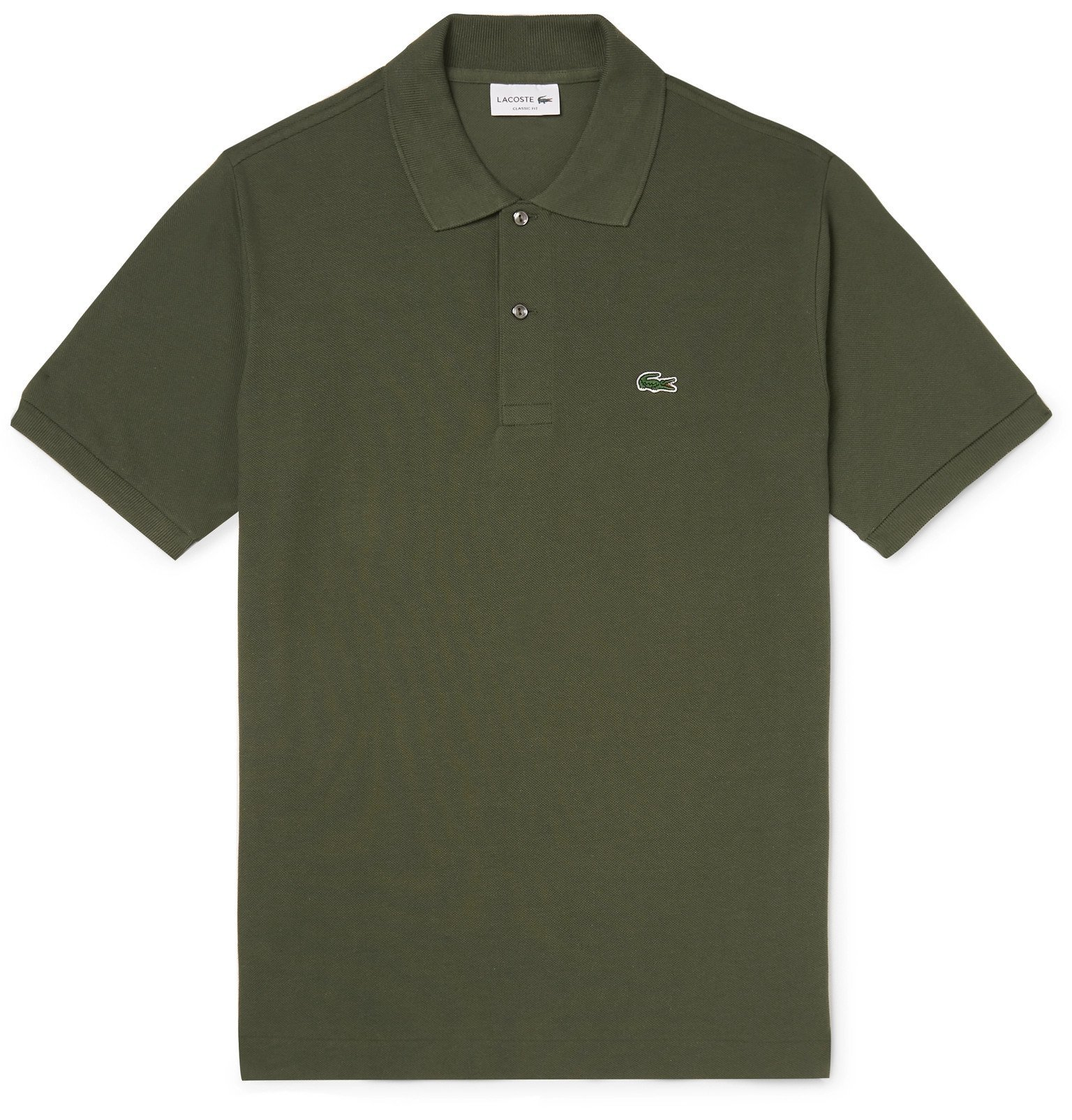 Photo: Lacoste - Cotton-Piqué Polo Shirt - Green