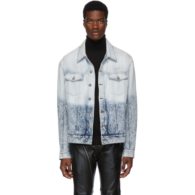 Photo: Balmain Blue Denim Degrade Jacket