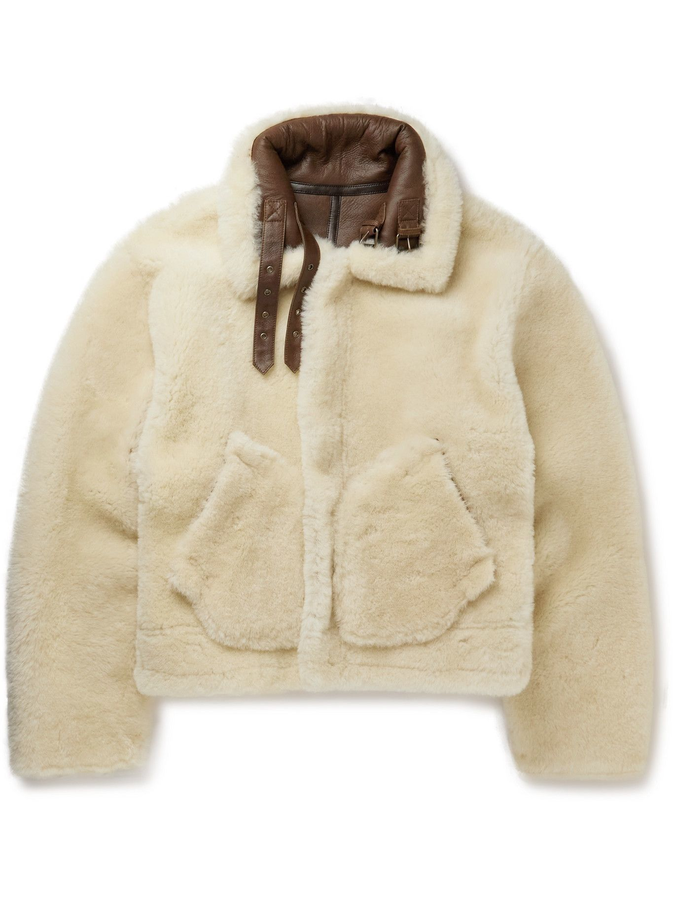 Photo: Vetements - Reversible Shearling and Leather Aviator Jacket - Neutrals