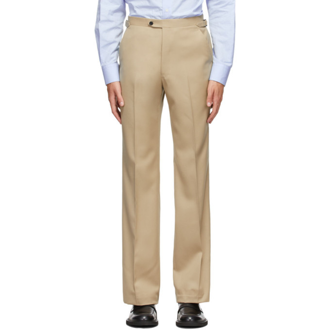 Photo: Husbands Off-White Wool Trousers