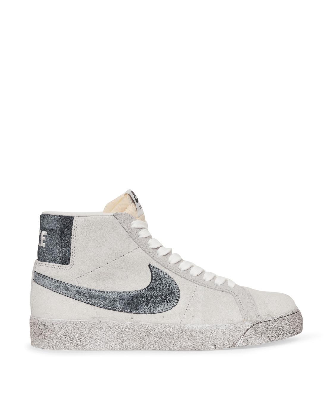 Photo: Nike Sb Zoom Blazer Mid Premium Sneakers Grey Fog/Black